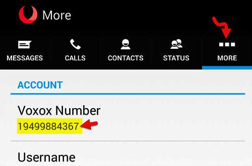 بعد اكمال التسجيل في تطبيق VOXOX